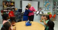 #MTP20-Jamille Rogers Thomas surprise her former teacher Susan Blue, Teacher at Booker Arts Magnet School with a MTP Outstanding Life Touchers Award!