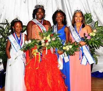 CONGRATULATIONS: Kiersten Page, Miss Teen Promise Princess 2012; Cierra Santa-Cruz, Miss Teen Promise 2012; Charmaine Porter, Miss Jr. Teen Promise; Ashleigh Branch, Lady Ms Teen Promise 2012!