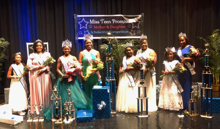 Congratulations Miss Teen Promise 2019 Royalty: Melanie Luckadue, Taylor Luckadue Garcia, MTP Court of Honor; Kynnadi Finks  and DiAnnette Finks crowned Miss Teen Promise Grand Champions; Kennedy Stepps and Kennethya Stepps crowned Royal Miss MTP; Madison Anderson and Shondreka Cooper crowned Supreme Miss Teen Promise. Over $12,000 in scholarships and prizes were award.